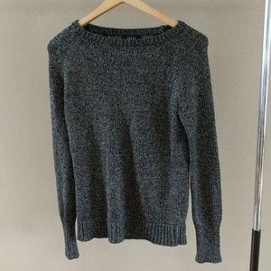 Chaps Gray/Black Super Soft Sweater